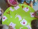 Psinek-Świnek wykonany przez dzieci.