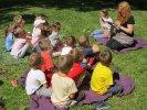 Dzieci wysłuchały opowiadania o kamieniu